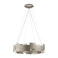 Moderne LED 27 inch Satin Nickel Chandelier Ceiling Light, Round