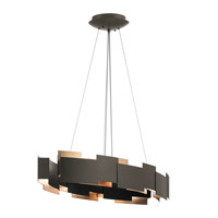 Moderne LED 16 inch Olde Bronze Chandelier Ceiling Light, Oval