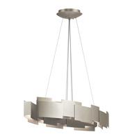 Moderne LED 16 inch Satin Nickel Chandelier Ceiling Light, Oval