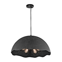 Kichler Fracture 5 Light Pendant in Weathered Zinc 43002WZC