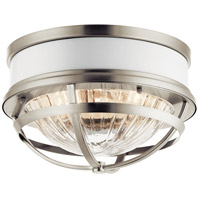 Kichler 43013NI Tollis 2 Light 12 inch Brushed Nickel Flush Mount Ceiling Light