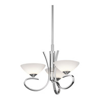 Kichler Lighting Brooklands 3 Light Convertible Semi Flush Chandelier in Chrome 43020CH photo thumbnail