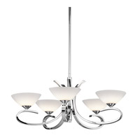 Kichler Lighting Brooklands 5 Light Chandelier in Chrome 43021CH photo thumbnail