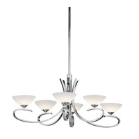 Kichler 43022CH Brooklands 6 Light 21 inch Chrome Chandelier Ceiling Light