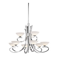 Kichler Lighting Brooklands 9 Light Chandelier in Chrome 43023CH photo thumbnail