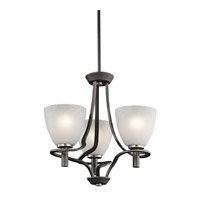Kichler Lighting Neillo 3 Light Chandelier in Anvil Iron 43025AVI photo thumbnail