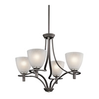 Kichler Lighting Neillo 4 Light Chandelier in Anvil Iron 43026AVI