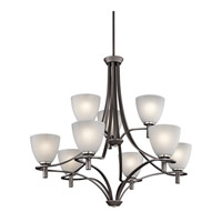 Kichler Lighting Neillo 9 Light Chandelier in Anvil Iron 43027AVI photo thumbnail