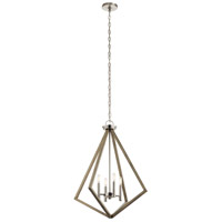 Kichler 43034DAG Deryn 4 Light 24 inch Distressed Antique Gray Chandelier Ceiling Light