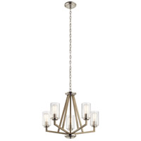 Kichler 43035DAG Deryn 5 Light 24 inch Distressed Antique Gray Chandelier Ceiling Light