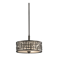 Kichler Lighting Loom 3 Light Semi-Flush Mount in Olde Bronze 43049OZ photo thumbnail