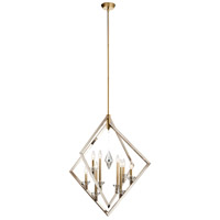 Kichler 43052PN Layan 8 Light 32 inch Polished Nickel Chandelier Ceiling Light