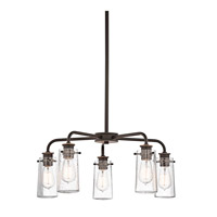 Kichler 43058OZ Braelyn 5 Light 25 inch Olde Bronze Chandelier Ceiling Light