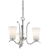Kichler 43073CH Armida 3 Light 18 inch Chrome Chandelier Ceiling Light in Standard photo thumbnail