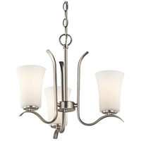 Kichler 43073NI Armida 3 Light 18 inch Brushed Nickel Chandelier Ceiling Light in Standard