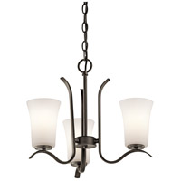 Kichler 43073OZ Armida 3 Light 18 inch Olde Bronze Chandelier Ceiling Light
