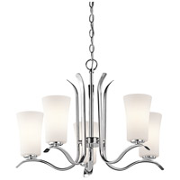 Kichler 43074CH Armida 5 Light 25 inch Chrome Chandelier Ceiling Light in Standard
