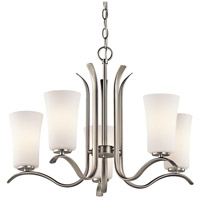 Kichler 43074NIL16 Armida 5 Light 25 inch Brushed Nickel Chandelier Ceiling Light in LED, Dimmable