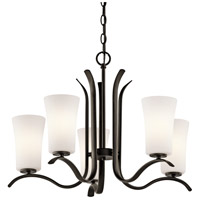 Kichler 43074OZFL Armida 5 Light 25 inch Olde Bronze Chandelier Ceiling Light in Standard