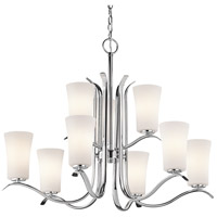 Kichler 43075CH Armida 9 Light 33 inch Chrome Chandelier Ceiling Light in Standard
