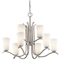 Kichler 43075NI Armida 9 Light 33 inch Brushed Nickel Chandelier Ceiling Light in Standard