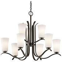Kichler 43075OZ Armida 9 Light 33 inch Olde Bronze Chandelier Ceiling Light
