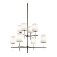 Kichler Lighting Builder Arvella 8 Light Chandelier in Brushed Nickel 43087NI photo thumbnail