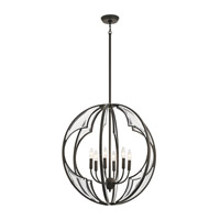 Kichler 43097OZ Montavello 6 Light 26 inch Olde Bronze Chandelier Ceiling Light, Medium