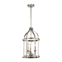 Kichler Steeplechase 3 Light Indoor Lantern Pendant in Classic Pewter 43106CLP