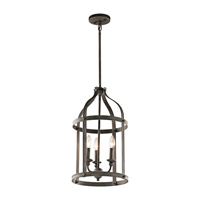 Kichler 43106OZ Steeplechase 3 Light 13 inch Olde Bronze Indoor Lantern Pendant Ceiling Light