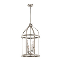 Kichler 43107CLP Steeplechase 4 Light 17 inch Classic Pewter Chandelier Ceiling Light