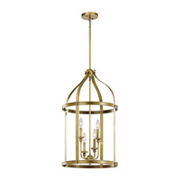 Kichler 43107NBR Steeplechase 4 Light 17 inch Natural Brass Chandelier Ceiling Light