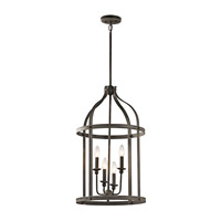 Kichler Steeplechase 4 Light Chandelier in Olde Bronze 43107OZ