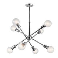 Kichler 43118CH Armstrong 8 Light 3 inch Chrome Chandelier Ceiling Light 1 Tier Medium