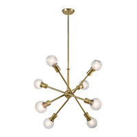 Armstrong 8 Light 30 inch Natural Brass Chandelier Ceiling Light