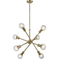 Kichler 43118NBR Armstrong 8 Light 30 inch Natural Brass Chandelier Ceiling Light