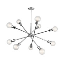 Kichler 43119CH Armstrong 10 Light 47 inch Chrome Chandelier Ceiling Light, Large
