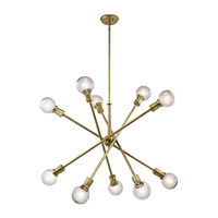 Kichler 43119NBR Armstrong 10 Light 39 inch Natural Brass Chandelier Ceiling Light