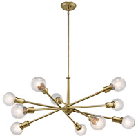 Kichler 43119NBR Armstrong 10 Light 39 inch Natural Brass Chandelier Ceiling Light alternative photo thumbnail
