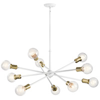Kichler 43119WH Armstrong 1 Light 47 inch White Chandelier Ceiling Light 1 Tier Large