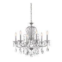 Jules 6 Light 25 inch Chrome Chandelier Ceiling Light