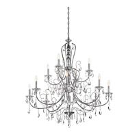 Jules 12 Light 44 inch Chrome Chandelier Ceiling Light