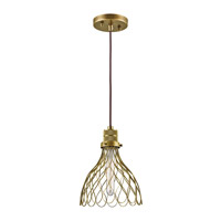 Kichler Devin 1 Light Mini Pendant in Natural Brass 43127NBR