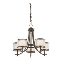 Kichler 43149MIZ Tallie 5 Light 24 inch Mission Bronze Chandelier Ceiling Light
