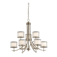 Kichler 43150AP Tallie 9 Light 32 inch Antique Pewter Chandelier Ceiling Light