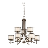 Tallie 9 Light 32 inch Mission Bronze Chandelier Ceiling Light