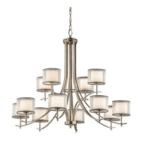 Tallie 12 Light 42 inch Antique Pewter Chandelier Ceiling Light