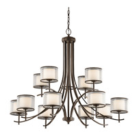 Tallie 12 Light 42 inch Mission Bronze Chandelier Ceiling Light