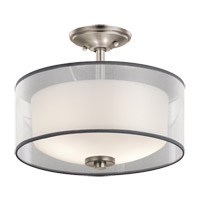 Kichler 43154AP Tallie 2 Light 14 inch Antique Pewter Semi Flush Mount Ceiling Light