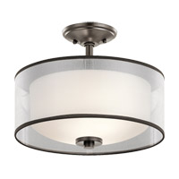 Kichler 43154MIZ Tallie 2 Light 14 inch Mission Bronze Semi Flush Mount Ceiling Light